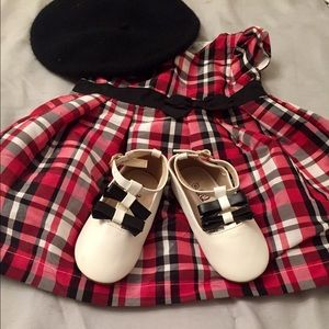 NEW Infant girl 9m Carters Red Plaid Holiday Dress